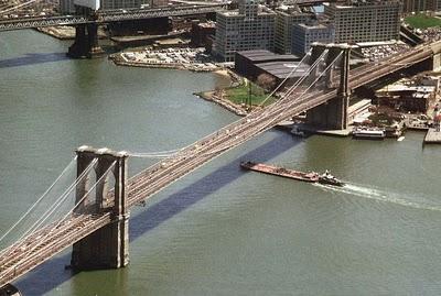 Бруклинский мост вид сверху