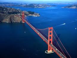 Мост в Сан-Франциско. Вид сверху
