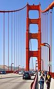 на мосту в Сан-Франциско