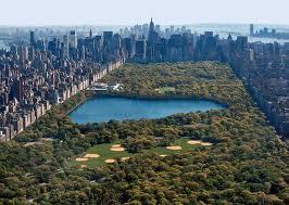 Вид сверху на Центральный парк в Нью-Йорке