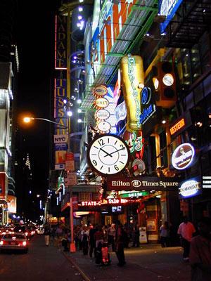 часы на Таймс-сквер