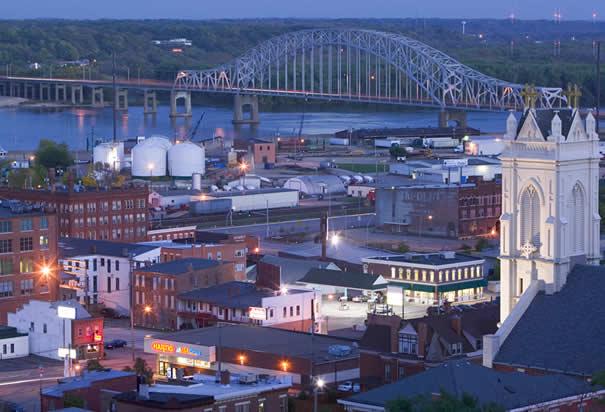 мост через реку Миссисипи, штат Айова