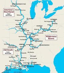 карта бассейна реки Миссисипи