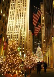 улицы Нью-Йорка в Рождество