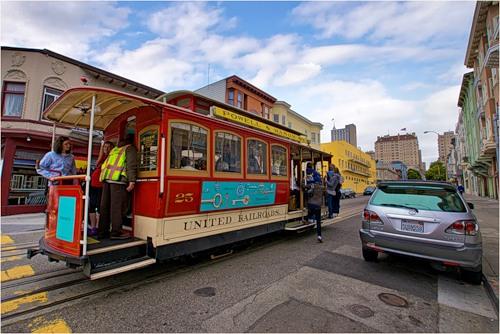 Знаменитый трамвай в Сан-Франциско