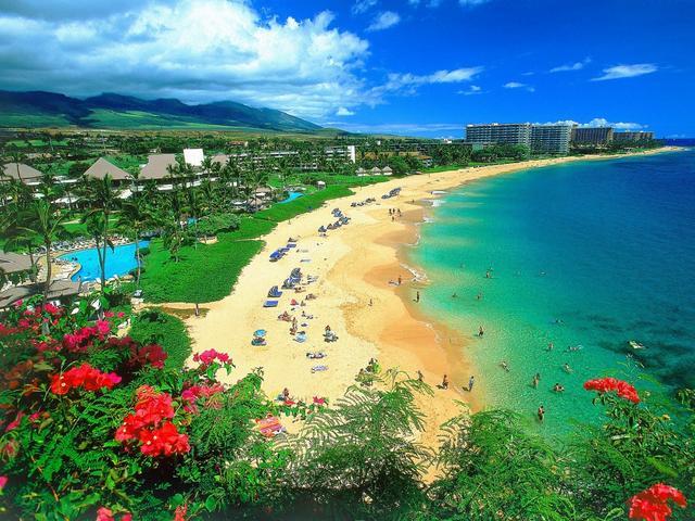 пляж на Гавайских островах