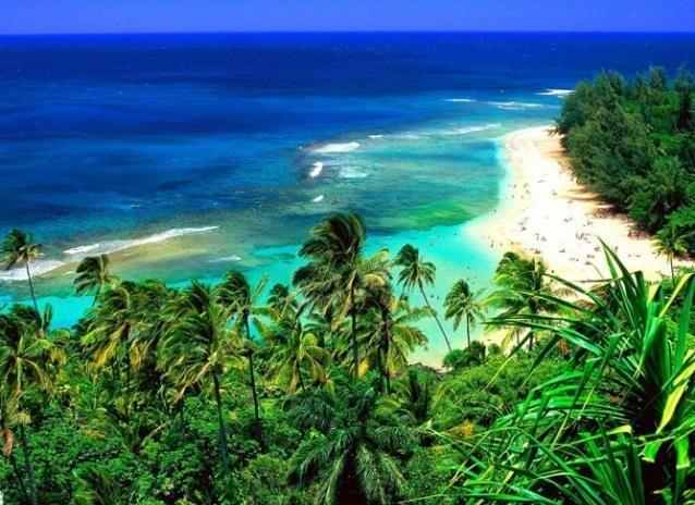 Вид на море. Гавайские острова