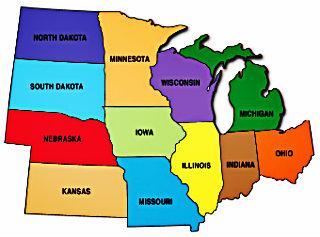 Средний Запад США штаты